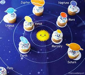 Solar System Cupcakes - Mom Loves Baking