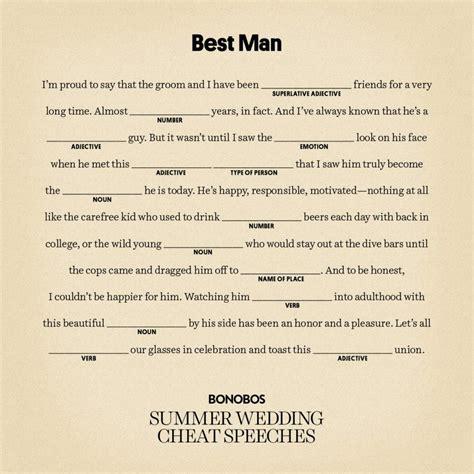 easy  man speeches   write  funny  man speech