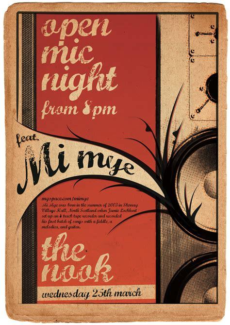 foto de The Nook Open Mic Poster featuring Mi Mye Owen Phillips