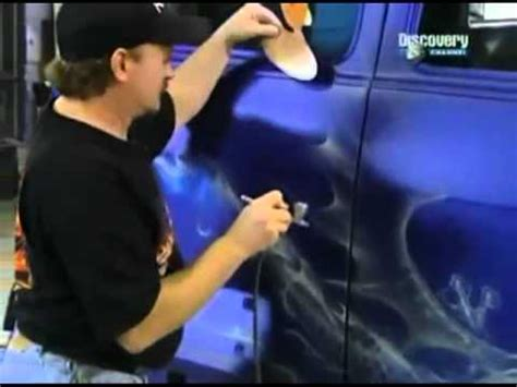 amazing mike lavallee  overhaulin airbrushing blue