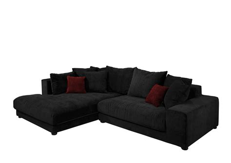 canapé d angle moelleux canapé d 39 angle gauche microfibre dario noir