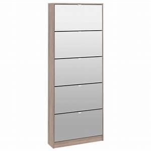 meuble a chaussures 5 abat dress chene gris With console avec tiroir meuble entree 18 vitrine 1 porte en verre et 1 tiroir chene gris clair