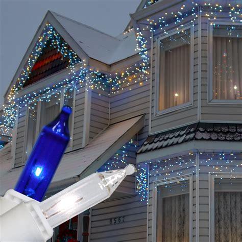 light blue outdoor christmas lights impressive look of blue and white outdoor christmas lights