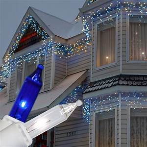 Impressive, Look, Of, Blue, And, White, Outdoor, Christmas, Lights