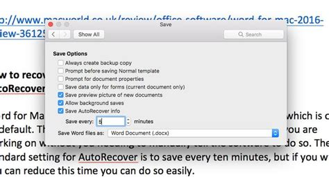 recover word document mac world