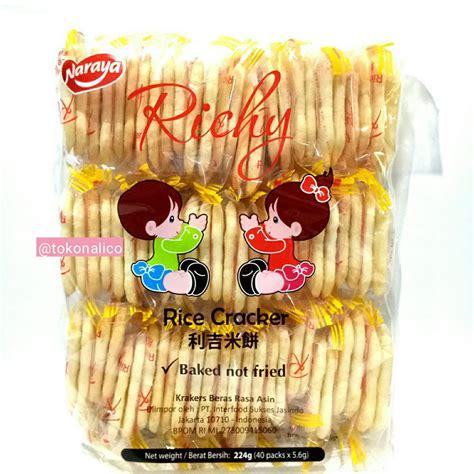 jual richy rice cracker baked not fried 224gr di lapak