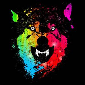 neon design daily the neon wolves t shirt design by moncheng fancy tshirts