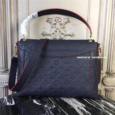 louis vuitton  blanche mm monogram empreinte leather