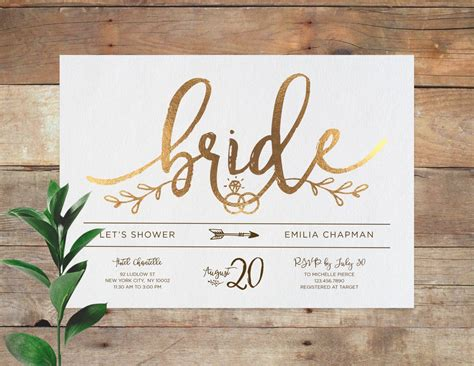 Bridal Shower Invitations - emilia bridal printable bridal shower invitation shower