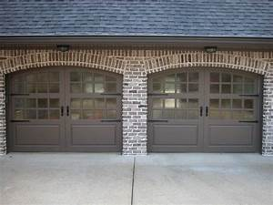 carriage house painted garage doors modern garage With automatic carriage garage doors