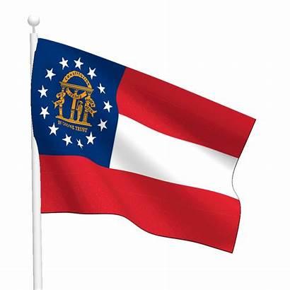Flag Georgia Flags State Pole