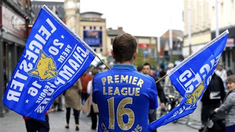 Leicester City celebrate Premier League title glory with ...