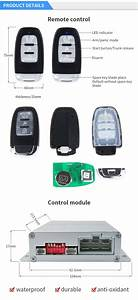 Rolling Code Pke Car Alarm Kit With Remote Engine Start