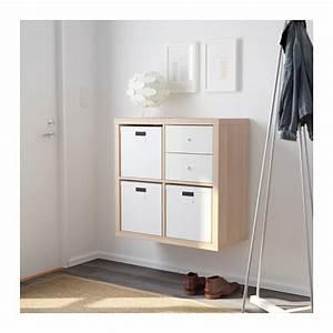 kallax shelving unit white stained oak effect ikea With meuble 8 cases ikea 0 kallax shelving unit with drawers high gloss grey