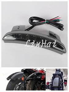 New motorcycle smoke lens rear fender edge led tail light fits for harley davidson iron