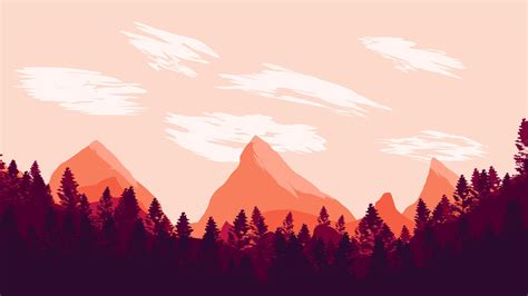 minimalism landscape digital art mountains wallpapers
