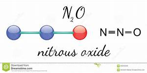 N2o Nitrous Oxide Molecule Stock Vector  Illustration Of