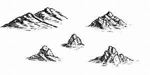 Mountain Drawings Clip Art (25+)