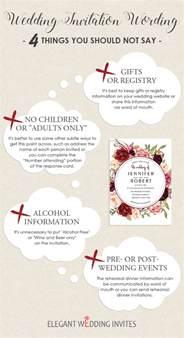wedding registry wording wedding invitation wording 4 things you should not say elegantweddinginvites