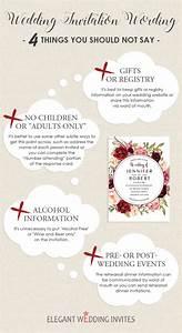 Wedding invitation wording 4 things you should not say for Wedding invitation wording re gifts