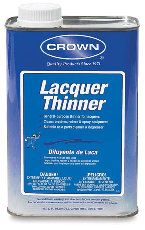 Crown Lacquer Thinner  Blick Art Materials