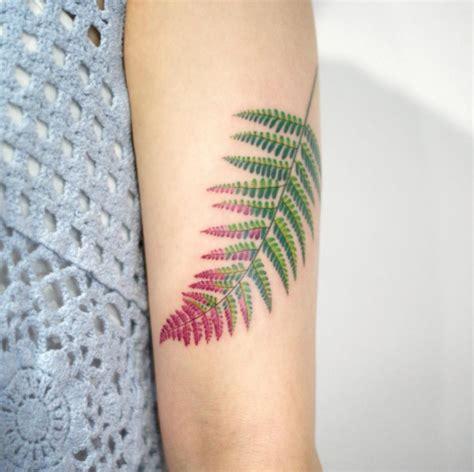 beautiful fern frond tattoo designs tattooblend