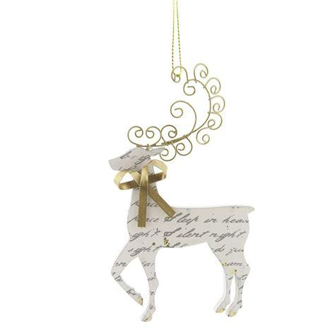 gisela graham cream gold musical note reindeer christmas