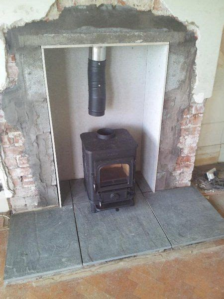 wood burning stove   fireplace connected   chimney