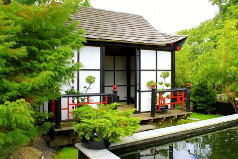 Asian Home : Tea House Design With Nearby Landscape