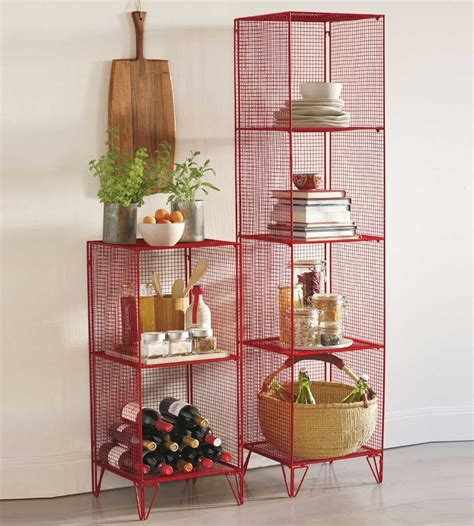 red shelving home red modular wire shelving wire