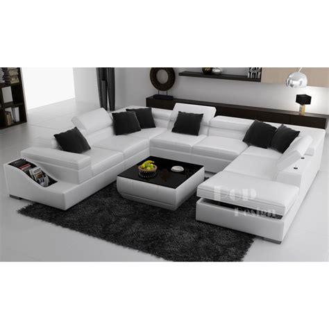 canapé en u cuir canapé d 39 angle panoramique en cuir jazzy canapés en u