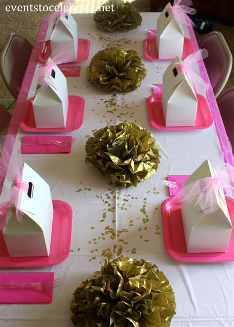 pink  gold quinceanera decorations archives   celebrate