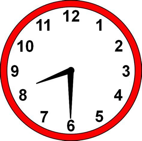 Clipart Clock 8 30 Clock Clipart