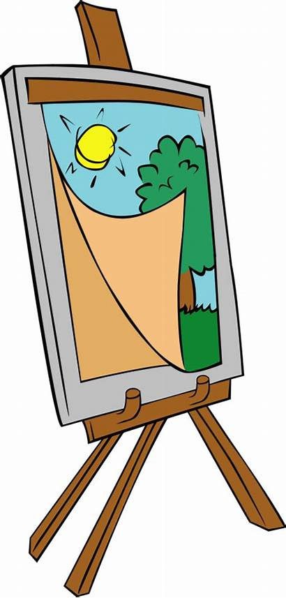 Clipart Easel Painting Cliparts Paint Clip Library