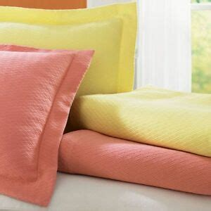 Yellow Coverlets by Sferra Morada Yellow King Coverlet Set Basket Weave 100