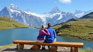 couple bench hd wallpaper 9970 With honeymoon in the mountains