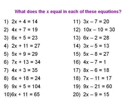 2 Step Algebra Equations Worksheets Algebra Alistairtheoptimist Free Worksheet For Kids