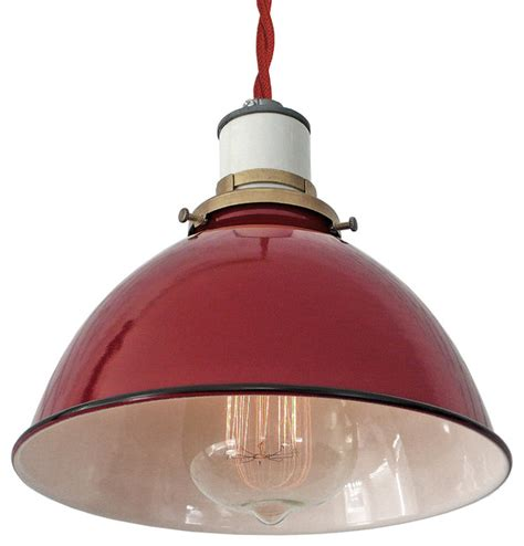 red hanging kitchen lights the sullivan industrial l red twisted cord pendant