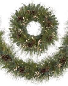 harvest pine christmas wreath and garland treetopia