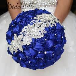 bouquet de fleurs mariage 2016 royal blue wedding flowers bouquets fleur bleu roi bridal brooch bouquet bouquet de