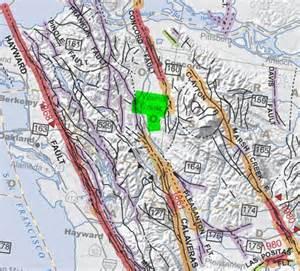 Bay Area Earthquake Fault Lines Map