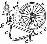 Spinning Wheel Flax Clipart Template Coloring Etc Sketch Templates sketch template