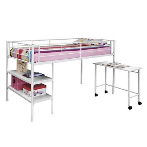twin metal loft bed with desk twin metal loft bed with desk white walmart ca