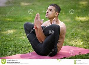 Garbha pindasana posture stock image. Image of pindasana ...