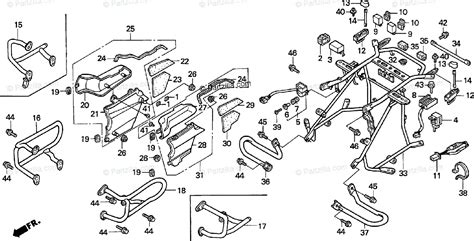 Honda Motorcycle Oem Parts Diagram For Engine Guard