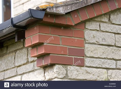 Corbel Bricks by Corbelling Or Brickwork Corbels At Gable Corners Of House