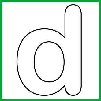 letter d template lower alphabet letter d template and song puzzles d songs and lower