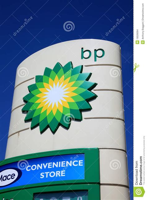 bp petrol station sign editorial stock image image