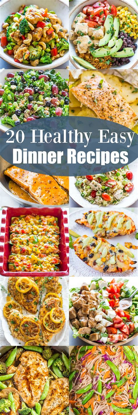 cing easy food ideas 20 healthy easy dinner recipes looking for healthy easy recipes that taste great and everyone