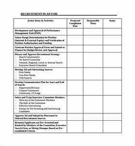 Sample recruiting plan template 9 free documents in pdf for Recruitment action plan template
